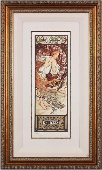 アルフォンス・ミュシャ『春』ミュシャ財団公式リクリエーション版画
