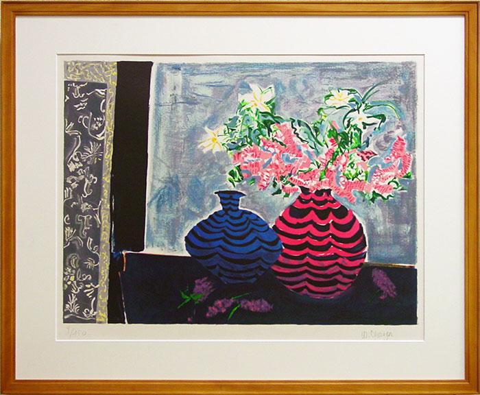 ウェンディ・チャザン『二つの花瓶』リトグラフ版画