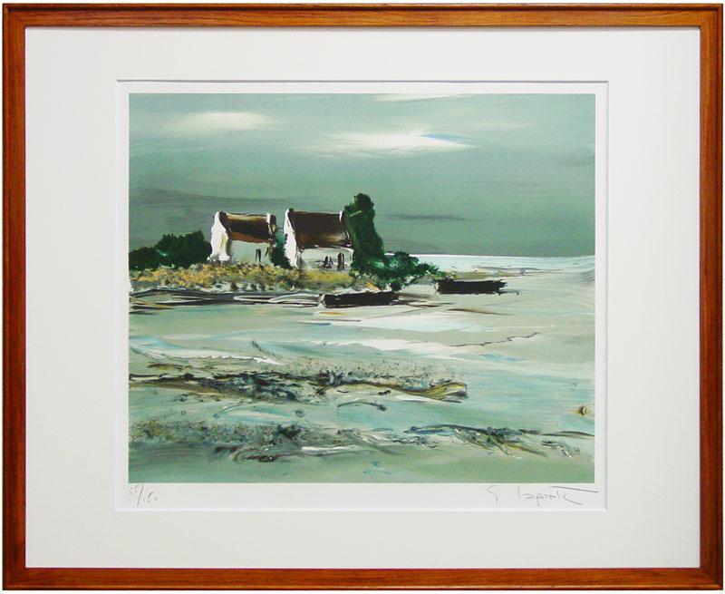 ジョルジュ・ラポルト『海岸風景』2リトグラフ(石版画)【中古】
