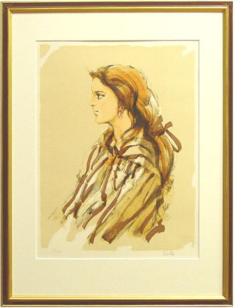 斉藤三郎『娘ロベルタ』リトグラフ(石版画)