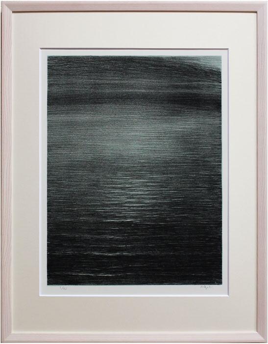 尾崎良二『東の海』(海十瞬より) リトグラフ(石版画)