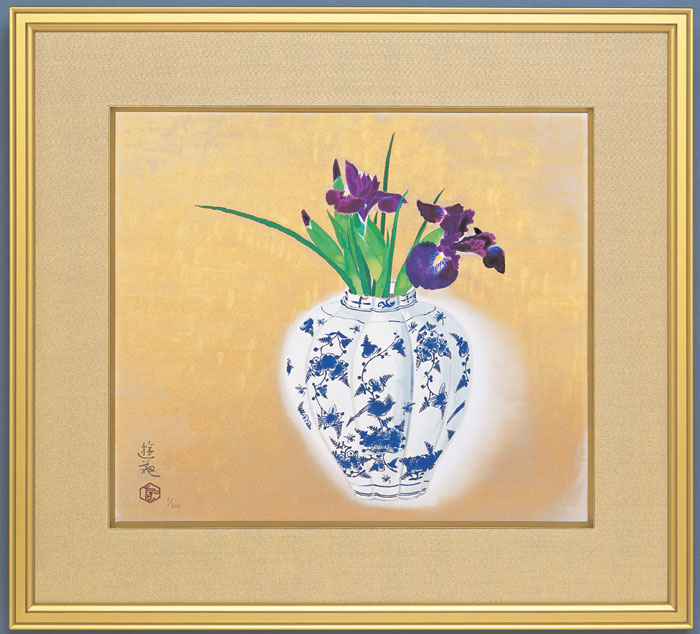 小倉遊亀『洋壺』(ようこ)彩美版・シルクスクリーン手刷り・一部本金泥使用