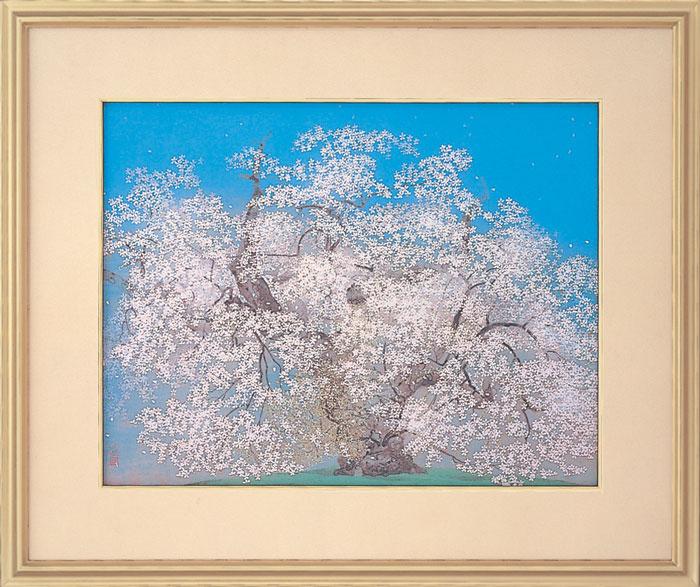 中島千波『千歳櫻』岩絵具方式複製日本画