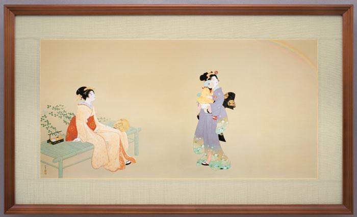 上村松園『虹を見る』彩美版