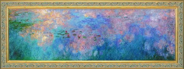 クロード・モネ『睡蓮、水のエチュードー雲』彩美版・シルクスクリーン手刷り