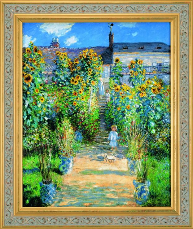 クロード・モネ『ヴェトゥイユのモネの庭』彩美版・シルクスクリーン手刷り