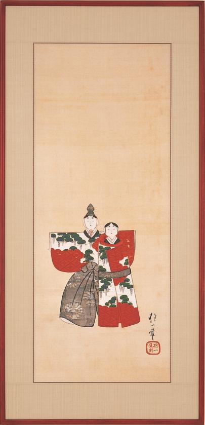酒井抱一『紙雛図』彩美版額装