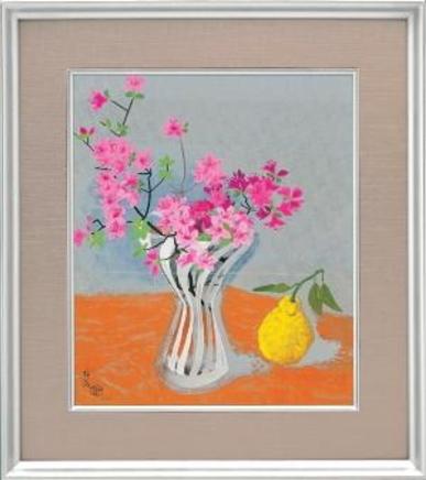 小倉遊亀『初夏の花』彩美版・シルクスクリーン手刷り・プラチナ泥使用