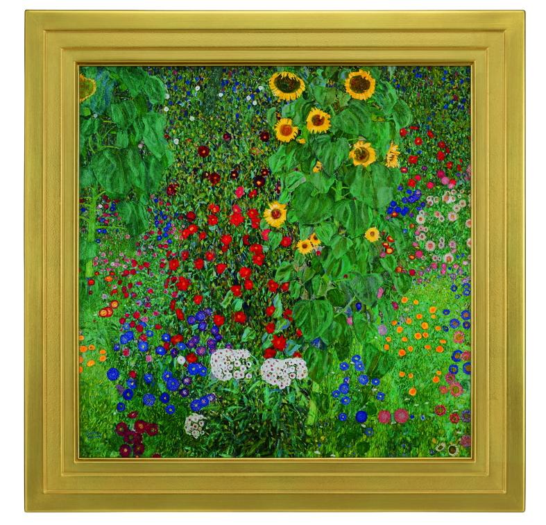 グスタフ・クリムト『ヒマワリの咲く農家の庭』彩美版・シルクスクリーン手刷り 正式認定複製版画