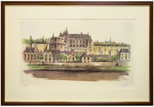 フォード『河畔の宮殿』リトグラフ(石版画)