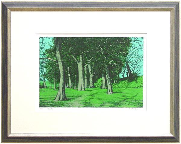 後藤秀明『樹木』リトグラフ(石版画)