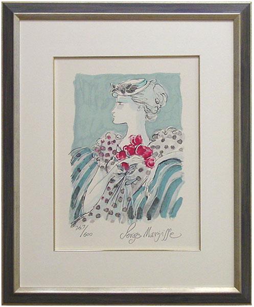 サージ・マルジス 『赤い花』リトグラフ(石版画)