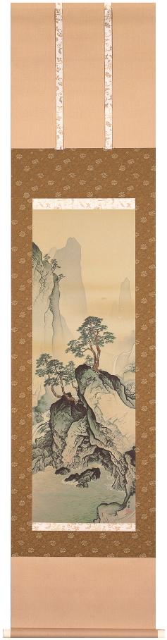 川合玉堂『蓬莱山水』複製画 掛軸