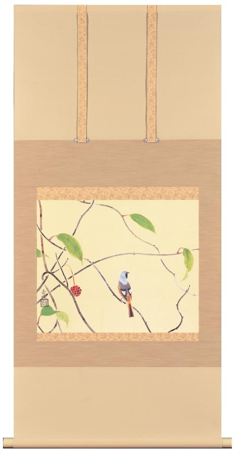 中村岳陵『初冬』彩美版・複製画 掛軸