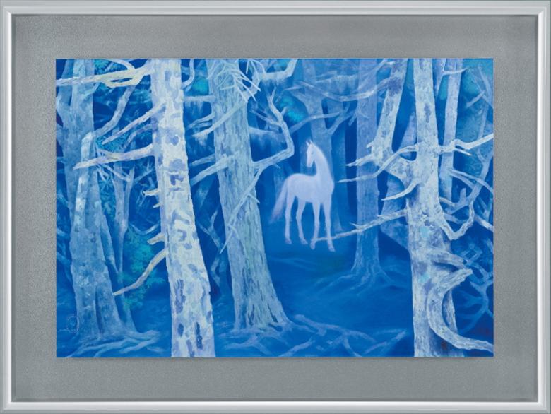 東山魁夷『白馬の森』彩美版プレミアム 復刻絵画