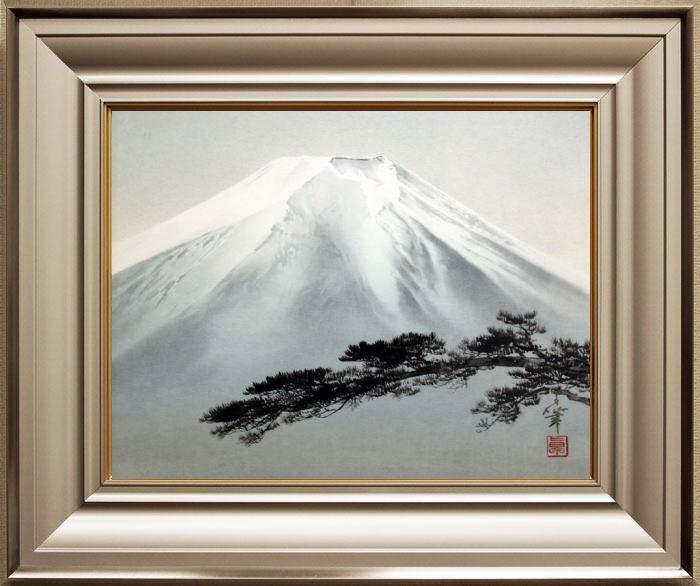 大竹 卓『富士』日本画  F6(6号)【中古】