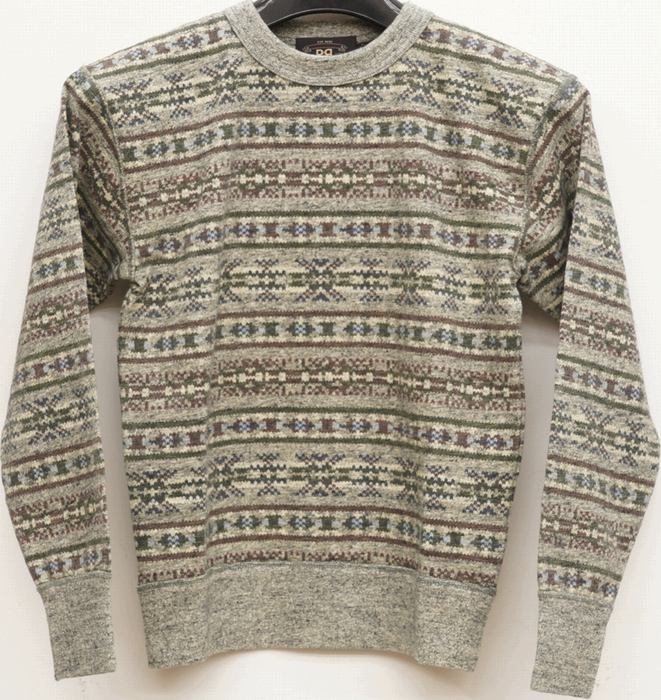 967c0d3cc12e9c Garyu double are elle fair isle print crew neck sweat shirt trainer men  fairisle print sweatshirt