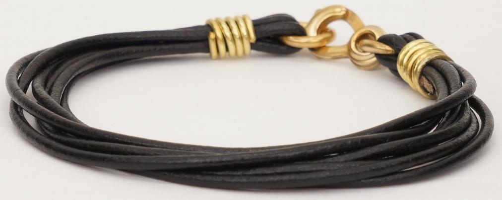 LHN Jewelry(エルエイチエヌ ジュエリー) 米国製 ハンドメイド レザー x 真鍮 Strand 本革 ブレスレット Bracelet 【あす楽】