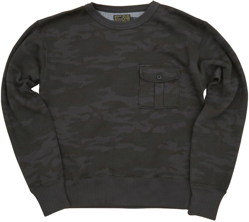 訳あり(ダブルアールエル) RRL カモ フリース スウェット シャツ トレーナー ブラック カモフラ 迷彩 XS メンズ Camo Fleece Sweatshirt 【あす楽】