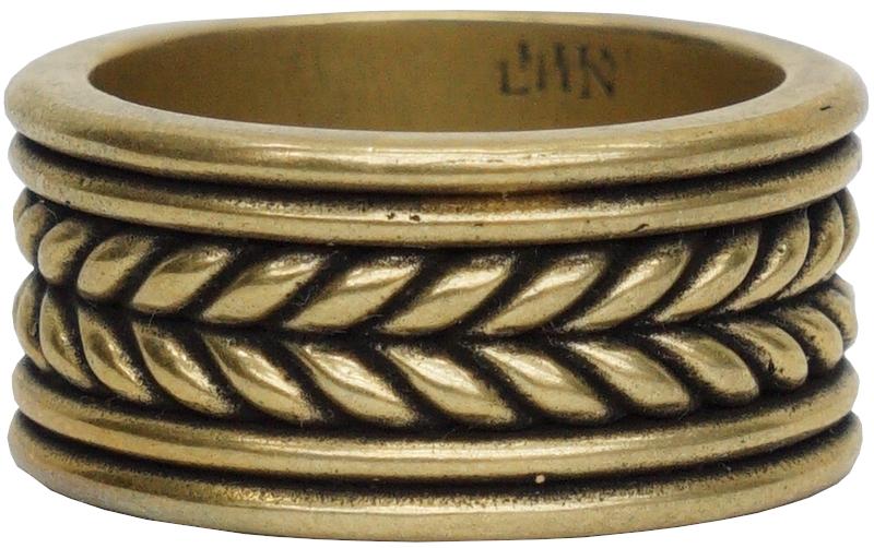 LHN Jewelry(エルエイチエヌ ジュエリー) ハンドメイド rope band リング 真鍮 アメリカ製 メンズ Brass ring 【あす楽】