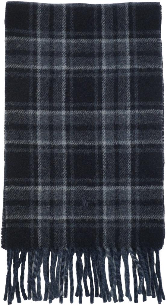 濃淡のあるブルーが美しいイタリア製マフラー ラルフローレン Ralph Lauren ダブルフェイスド バージンウール マフラー イタリア製 ブルー ネイビー あす楽 感謝価格 blue x scarf お買い得 プレゼント ユニセックス wool
