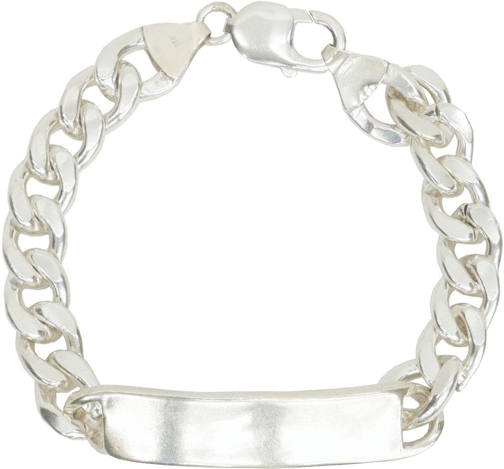 プレートにスタンプを施さずシルバーの美しさを引き出した逸品 LHN Jewelry エルエイチエヌ ジュエリー ハンドメイド ID あす楽 Silver 超激安特価 シルバー製 Plain プレーン 当店一番人気 ブレスレット Bracelet