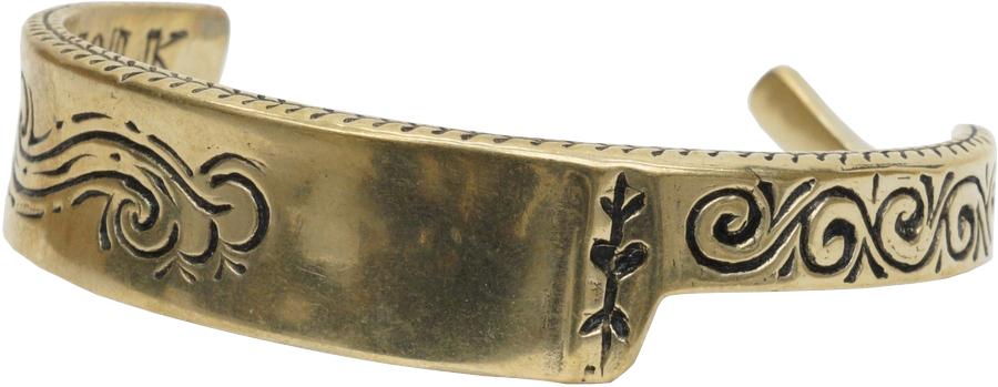 LHN Jewelry(エルエイチエヌ ジュエリー) 米国製 ハンドメイド 真鍮 カミソリ 剃刀 バングル ブレスレット ブラス Straight Razor Cuff Brass 【あす楽】