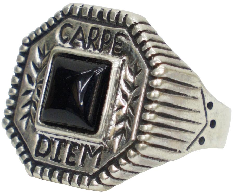 複雑な柄とオニキスのコンビネーションが印象的なリング LHN 限定特価 Jewelry エルエイチエヌ ジュエリー Made In USA ハンドメイド シルバー Ring Onyx カルペディエム Silver オニキス Carpe Diem x あす楽 リング 激安通販