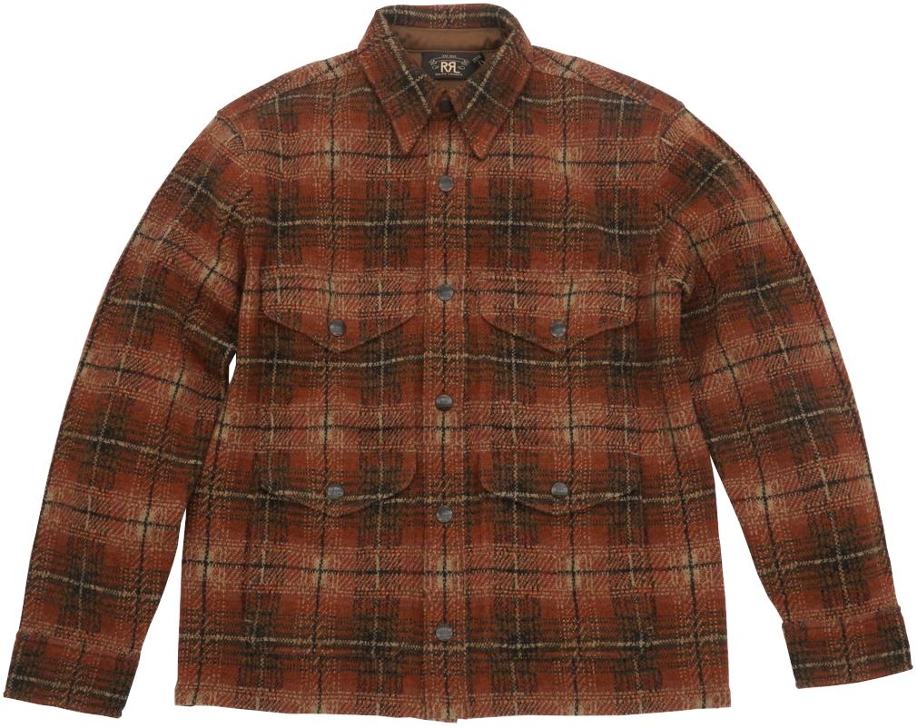 (ダブルアールエル) RRL プラッド ワークシャツ セーター ジャケット カシミヤ ブレンド メンズ Plaid Workshirt Sweater 【あす楽】