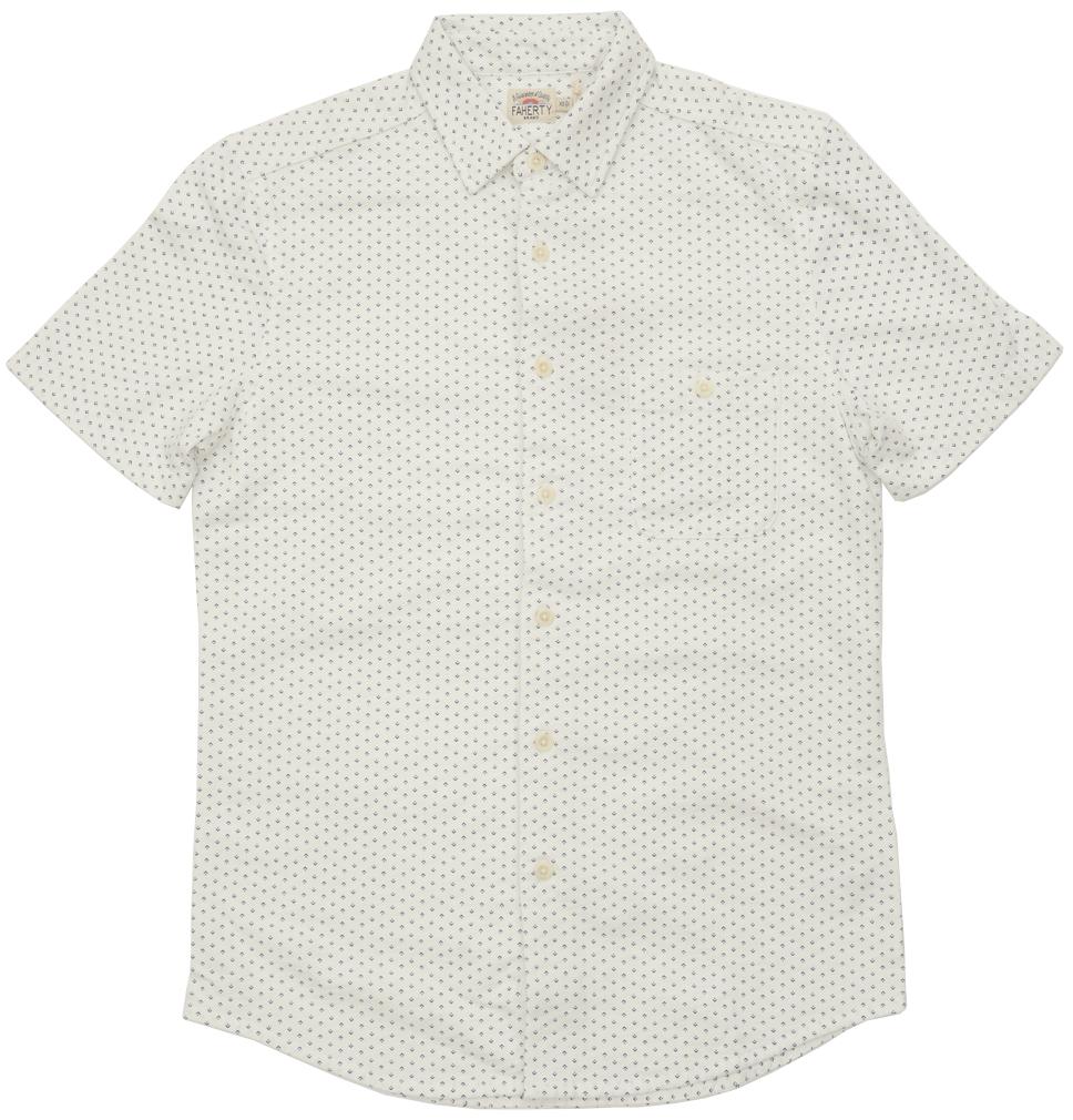 FAHERTY BRAND (ファリティ ブランド) シェブロン ドット 半袖 シャツ メンズ Chevron Dot Print Shirt 【あす楽】