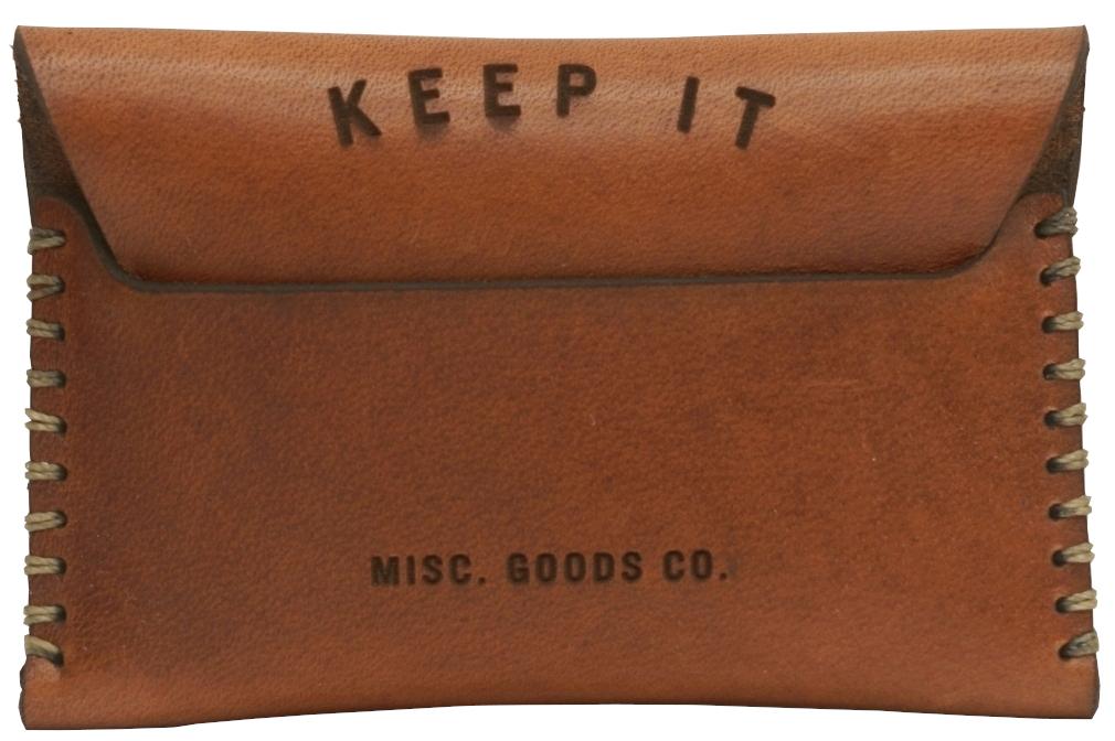 シンプルながら存在感溢れるアメリカ製のレザーウォレット Misc. Goods Co. レザー カードケース ウォレット V.2 Wallet ユニセックス 特売 直送商品 アメリカ製 あす楽 メンズ ライトブラウン Leather