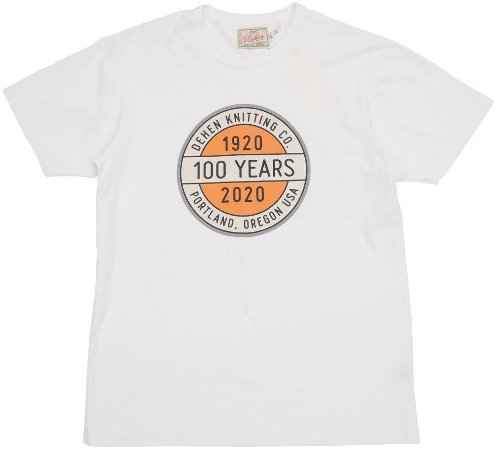 創業100周年を記念した入手困難な限定Tシャツ Dehen 1920 デーヘン 創業100周年 限定 アメリカ製 ロゴ 商品 プリント Year Tee Seal White あす楽 ホワイト Anniversary 100 休み Tシャツ
