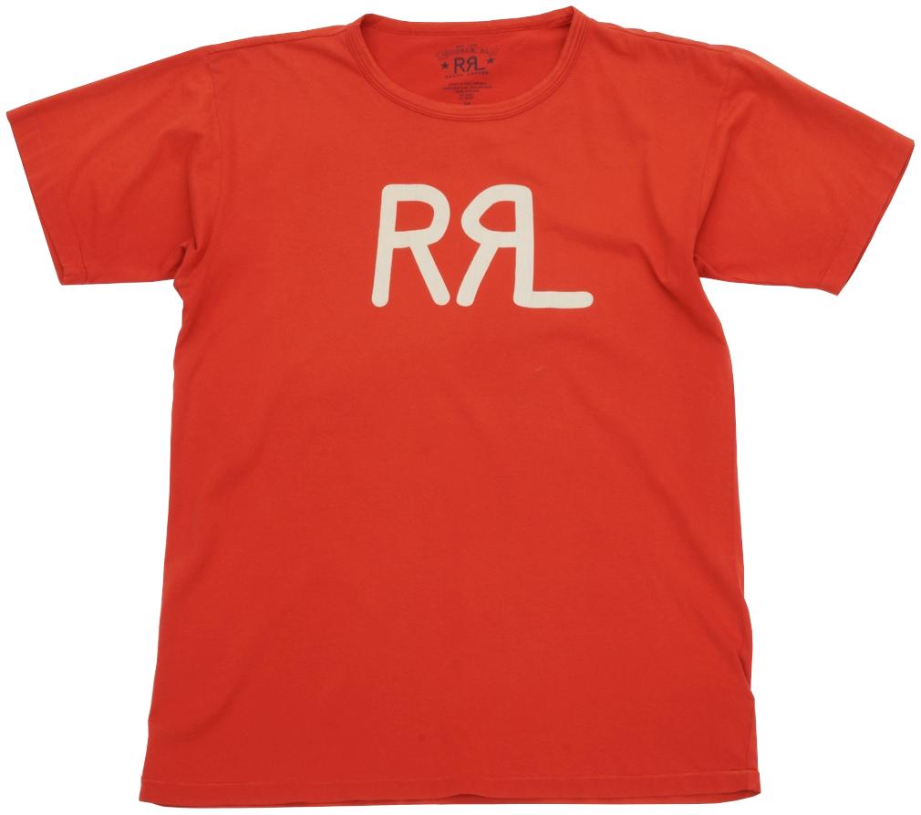 希望者のみラッピング無料 通販 激安 ウォッシュをかけたレッドの色合いが印象的なTシャツ ダブルアールエル RRL コットン ジャージー グラフィック ロゴ Tシャツ メンズ あす楽 Cotton Red レッド Tshirs Jersey