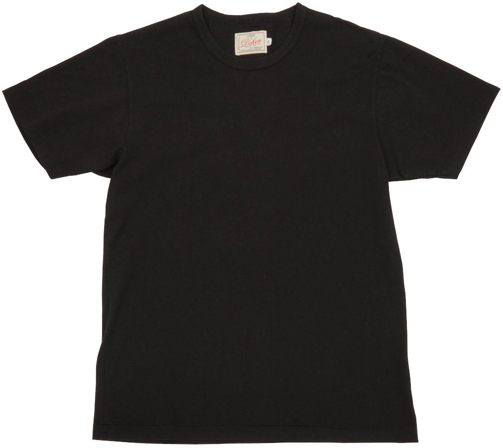 しっかりした質感で長い間愛用できるこだわりTシャツ 激安卸販売新品 Dehen 1920 『4年保証』 デーヘン アメリカ製 ヘビー デューティー Tシャツ あす楽 ブラック メンズ Duty Black Tee Heavy