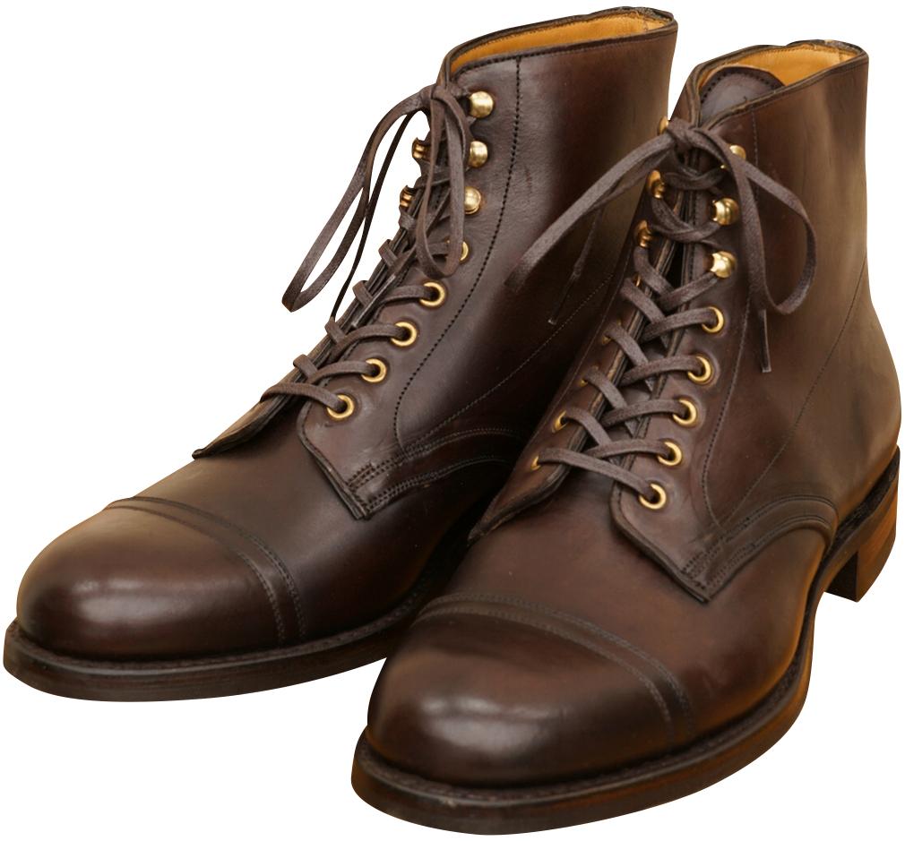 (ダブルアールエル) RRL 英国製 リビングストン レザー ブーツ ダークブラウン メンズ Livingstone Leather Boot 【あす楽】