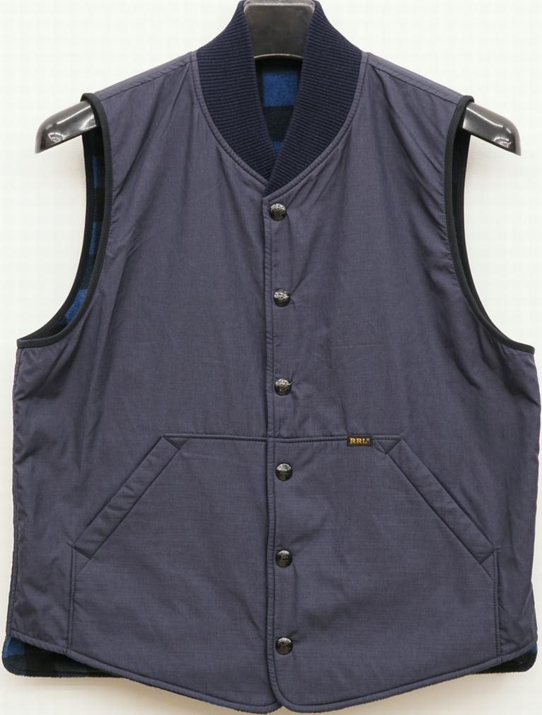 (ダブルアールエル) RRL バッファローチェック リバーシブル ベスト メンズ Reversible Vest 【あす楽】