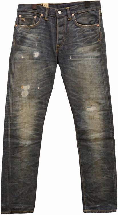 阿迈尔 (格拉夫) RRL 内华达苗条窄边牛仔裤日本牛仔布 30 32 34 男式内华达州苗条窄边琼