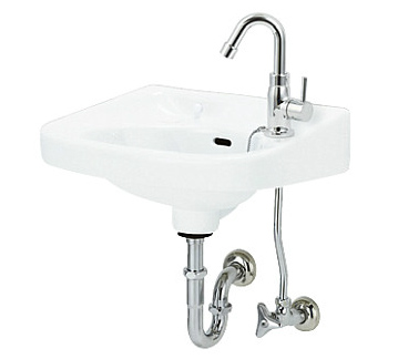 *アサヒ衛陶 Pトラップ仕様*L250D 平付洗面器[立水栓]セット Pトラップ仕様, ホウライチョウ:110ac3fa --- rigg.is