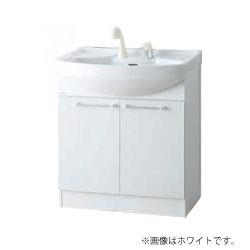 *アサヒ衛陶*LK3710KU[C]#[B/W] 洗面化粧台 Kシリーズ 化粧台本体 2枚扉 間口75cm