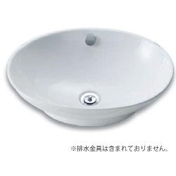 *アサヒ衛陶*L462NLW 洗面ボウル ベッセル式 オーバルタイプ