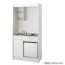 *クリナップ*CK120U[L/R]+CK120TF[L/R]+ZZCH12B-M+ZZR5ZPW ミニキッチン IHヒーター[200V]/冷蔵庫タイプ 間口120cm〈メーカー直送送料無料〉