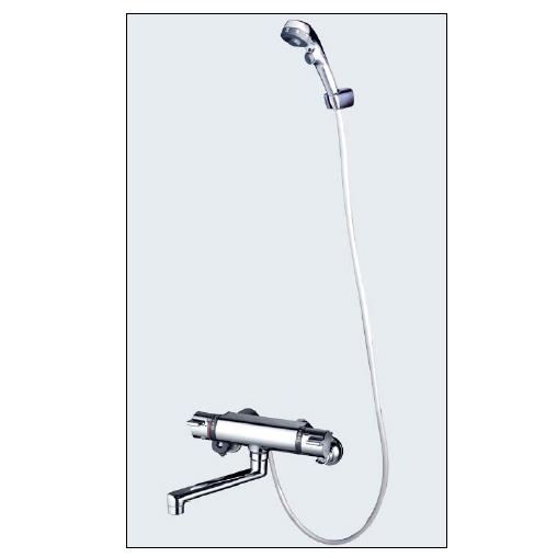 *KVK水栓金具*浴室用水栓 バス水栓 KF800TES 3wayワンストップ付サーモスタット式シャワー 一般地用【送料無料/代引不可】