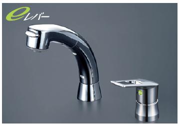 *KVK水栓金具*KM5271ZTS2EC 寒冷地仕様 洗面用 シャワー引出タイプ シングルレバー式洗髪シャワー水栓〈送料無料/代引不可〉
