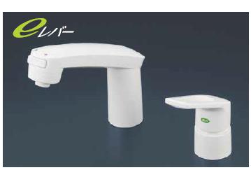 *KVK水栓金具*KM8007S2CNEC ヒートン付 洗面用 シャワー引出タイプ シングルレバー式洗髪シャワー水栓〈送料無料/代引不可〉