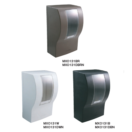 *河村電器*MXO 131[W/B/BR] ワットメーターボックス 電力量計を収納樹脂製ボックス