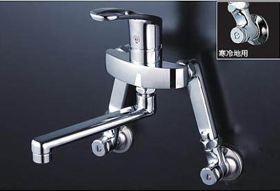 *KVK水栓金具* KM5000TSL 延長ソケット付仕様 150mmタイプ キッチン用 シングルレバー式混合栓〈送料無料/代引不可〉