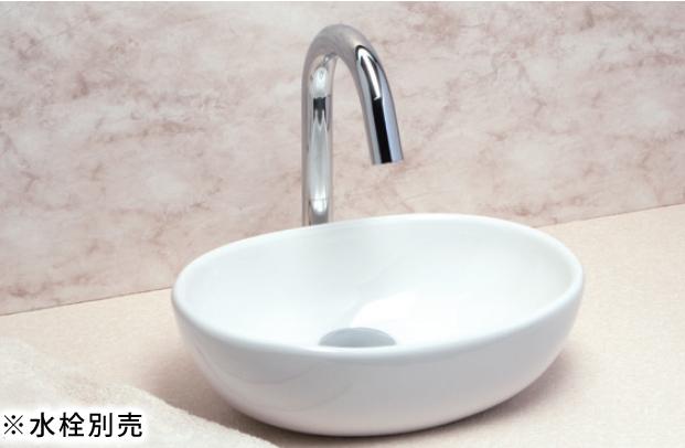 *KVK* KV466 オーバル型 手洗器 ピュアホワイト 水栓別売〈送料無料/代引不可〉