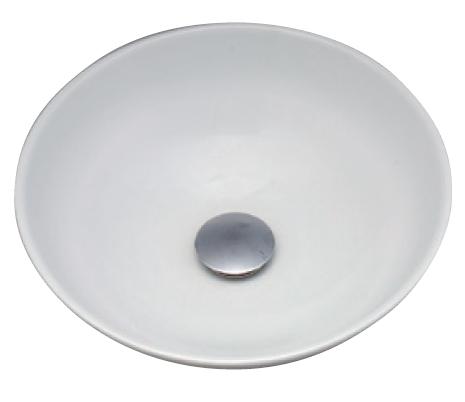 *KVK* KV48A 白磁/プレーン 美術工芸手洗鉢 陶器製 手洗器 水栓別売〈送料無料/代引不可〉