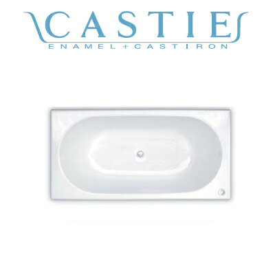 *DAIWA/大和重工*CIE-1680[L/R] 260L CW クリスタルホワイト 幅160cm CASTIE ENAMEL ホーロー浴槽〈メーカー直送送料無料〉