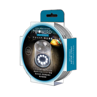 *エムパワード*OUTDOOR アウトドア クリアタイプ 白色LED【5個セット】 防水型ソーラーランタン〈送料無料〉